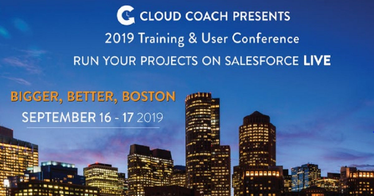 Cloud Coach Training & User Conference - Run your Projects on Salesforce