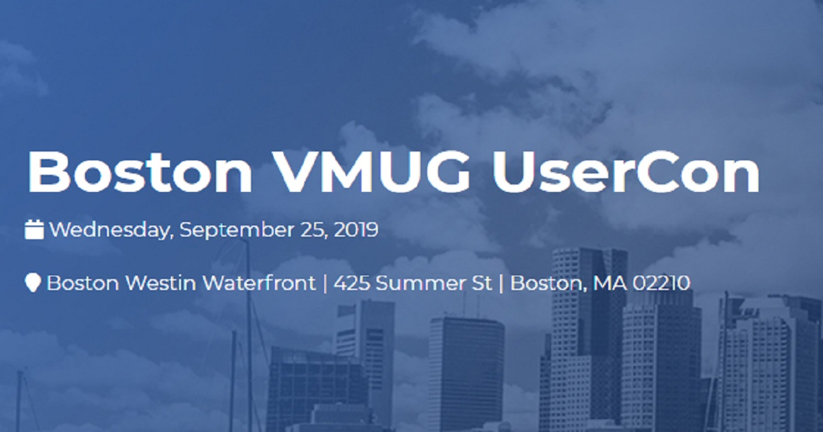 Boston VMUG UserCon