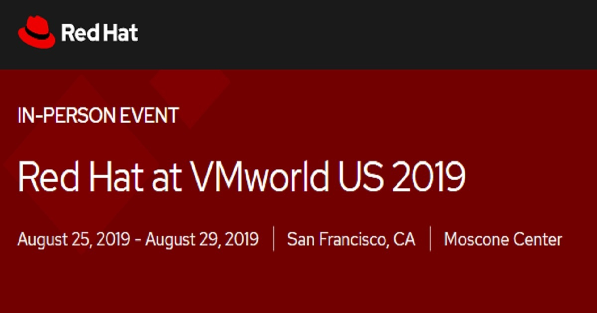 Red Hat at VMworld US 2019