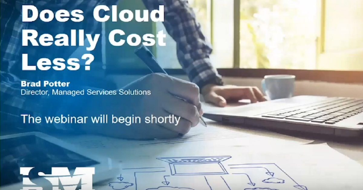 On-demand Webinar - Does the cloud really cost less?