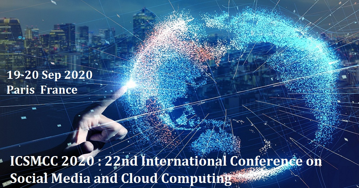 ICSMCC 2020 : 22nd International Conference on Social Media and Cloud Computing