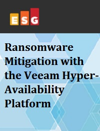 RANSOMWARE MITIGATION WITH THE VEEAM HYPER-AVAILABILITY PLATFORM