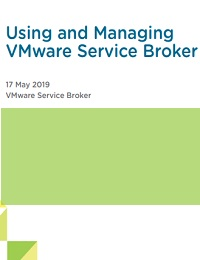 USING AND MANAGINGVMWARE SERVICE BROKER