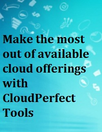 MAKE THE MOST OUT OF AVAILABLE CLOUD OFFERINGS WITH CLOUDPERFECT TOOLS
