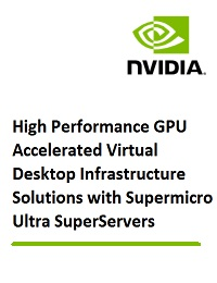 HIGH PERFORMANCE GPU ACCELERATED VIRTUAL DESKTOP INFRASTRUCTURE SOLUTIONS WITH SUPERMICRO ULTRA SUPERSERVERS