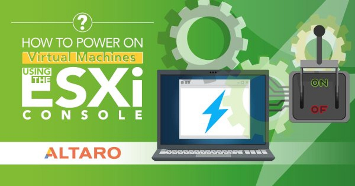 HOW TO POWER ON VIRTUAL MACHINES USING THE ESXI CONSOLE