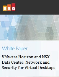 VMWARE HORIZON AND NSX DATA CENTER: NETWORK AND SECURITY FOR VIRTUAL DESKTOPS