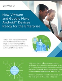INFOGRAPHIC: HOW VMWARE AND GOOGLE MAKE ANDROID DEVICES READY FOR THE ENTERPRISE