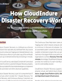 HOW CLOUDENDURE DISASTER RECOVERY WORK
