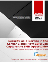 WHITE PAPER SECURITY-AS-A-SERVICE IN THE CARRIER CLOUD HOW CSPS CAN CAPTURE THE SMB OPPORTUNITY
